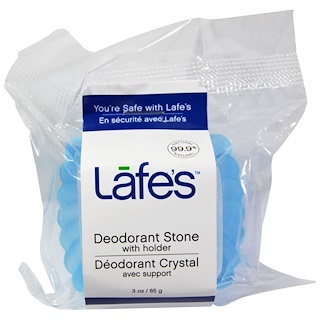 Lafe's Natural Body Care, Deodorant Stone, With Holder, 3 oz (85 g)