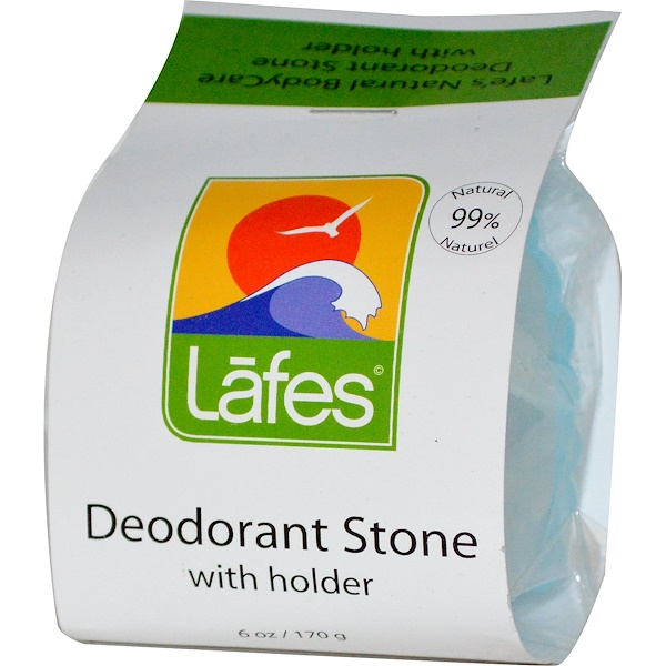 Lafe's Natural Bodycare, Deodorant Stone with Holder, 6 oz (170 g) (Discontinued Item)