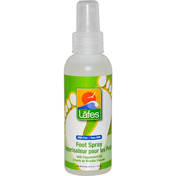 Lafe's Natural Bodycare, Foot Spray with Peppermint Oil, 4 oz. (118 ml)
