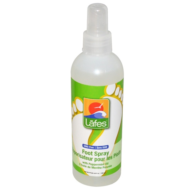 Lafe's Natural Body Care, Foot Spray, With Peppermint Oil, 8 oz (236 ml) (Discontinued Item)
