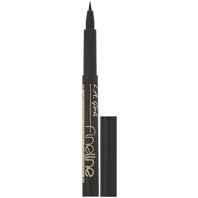 Купить L.A. Girl Жидкая подводка для глаз Fineline Liquid Eyeliner, цвет Black, 1, 1мл