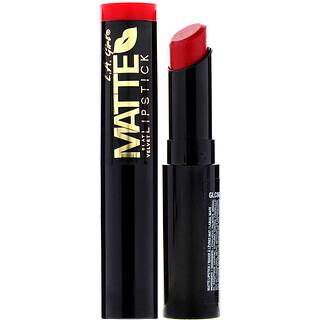 L.A. Girl, Matte Flat Velvet Lipstick, Gossip, 0.10 oz (3 g)