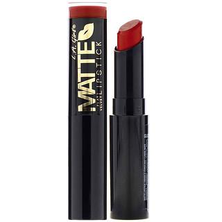 L.A. Girl, Matte Flat Velvet Lipstick, Bite Me, 0.10 oz (3 g)