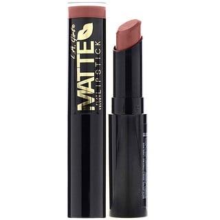 L.A. Girl, Matte Flat Velvet Lipstick, Snuggle, 0.10 oz (3 g)