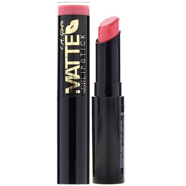 L.A. Girl, Matte Flat Velvet Lipstick, Hush, 0.10 oz (3 g)