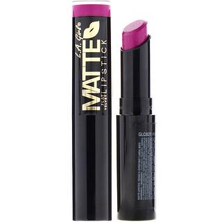 L.A. Girl, Matte Flat Velvet Lipstick, Manic, 0.10 oz (3 g)