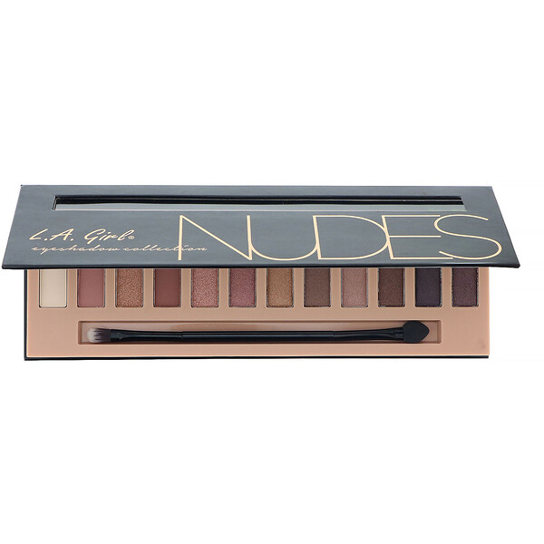 L.A. Girl, Beauty Brick, Nudes Eyeshadow Palette, 0.42 oz (12 g)