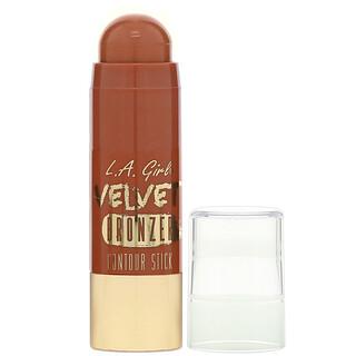 L.A. Girl, Velvet Bronzer Contour Stick, Suede, 0.2 oz (5.8 g)