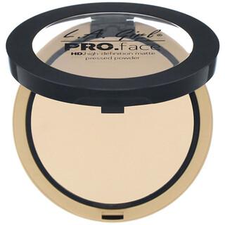 L.A. Girl, Pro Face HD Matte Pressed Powder, Creamy Natural, 0.25 oz (7 g)