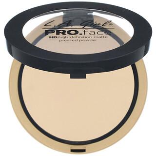 L.A. Girl, Pro Face HD Matte Pressed Powder, Nude Beige, 0.25 oz (7 g)