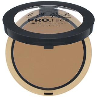 L.A. Girl, Pro Face HD Matte Pressed Powder, Warm Caramel, 0.25 oz (7 g)