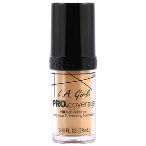 L.A. Girl, Pro Coverage HD Foundation, Natural, 0.95 fl oz (28 ml) отзывы покупателей
