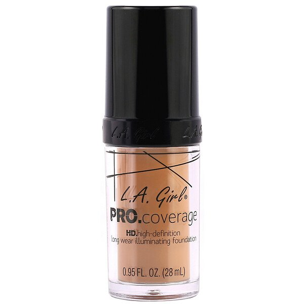 L.A. Girl, Base Pro Coverage HD, Beige, 28 ml (0,95 oz. líq.)