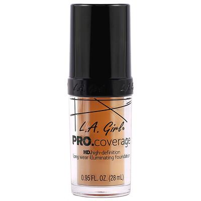 Купить L.A. Girl Основа под макияж Pro Coverage HD, оттенок Soft Honey, 28мл