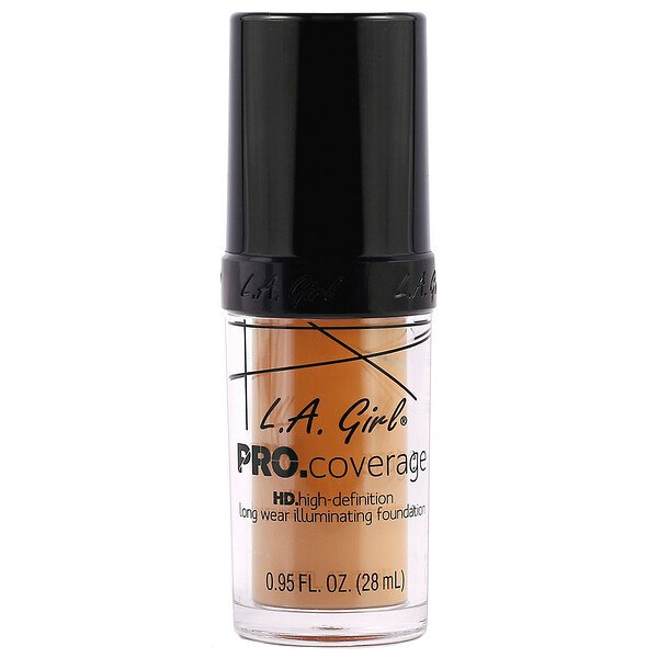 Pro Coverage HD Foundation, Soft Honey, 0.95 fl oz (28 ml)