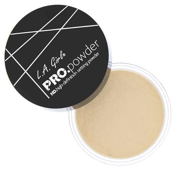 L.A. Girl, Pro HD Setting Powder, Banana Yellow, 0.17 oz (5 g)