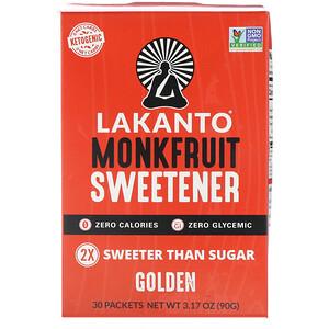 Лаканто, Monkfruit Sweetener, Golden, 30 Packets отзывы
