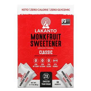 Lakanto, Monkfruit Sweetener With Erythritol, Classic, 3.17 oz (90 g)
