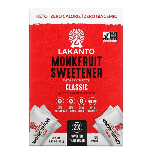 Lakanto, Monkfruit Sweentener, Classic, 3.17 oz (90 g)
