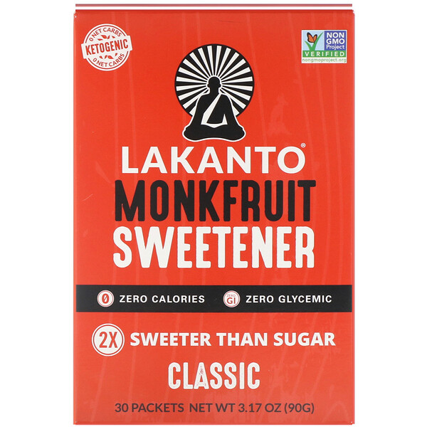 Lakanto, Monkfruit Sweetener, Classic, 3.17 oz (90 g)