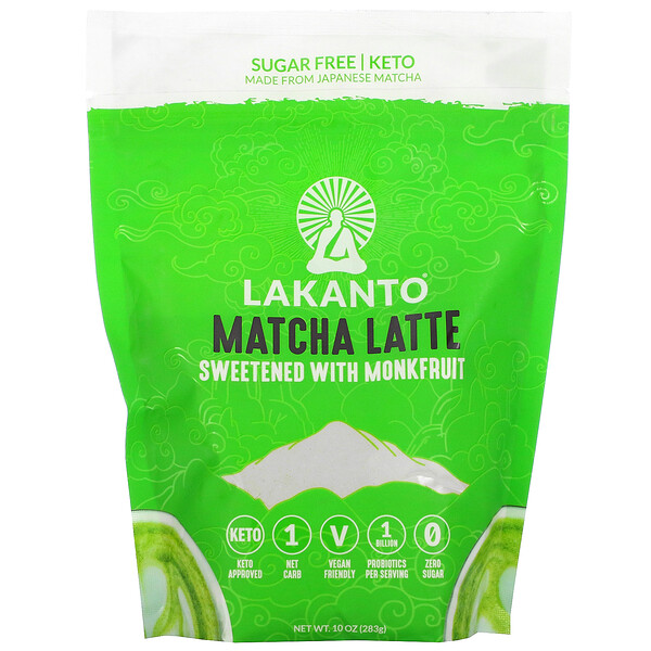 Matcha Latte, Sweetened with Monkfruit, 10 oz (283 g)
