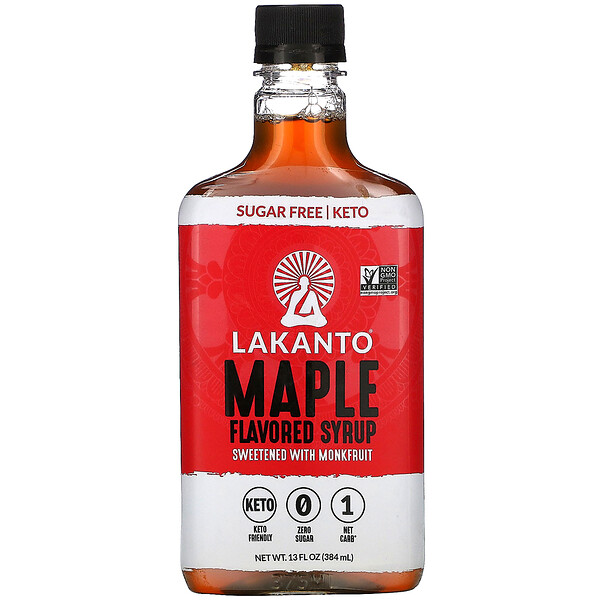 Lakanto, Maple Flavored Syrup, 13 fl oz (384 ml)
