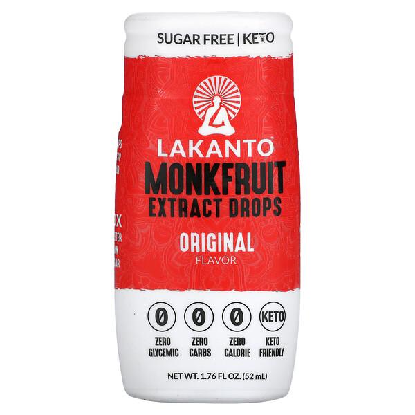Monkfruit Extract Drops, Original Flavor, 1.76 fl oz (52 ml)