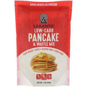 Lakanto, Low-Carb Pancake & Waffle Mix, 1 lb (454 g)