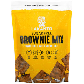 Lakanto, Brownie Mix, Sweetened with Monkfruit, Sugar Free, 9.7 oz (275 g)