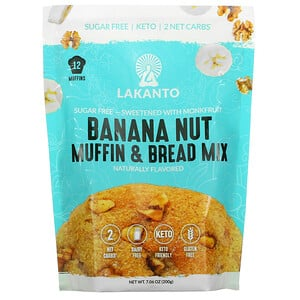 Lakanto, Banana Nut Muffin & Bread Mix, 7.06 oz (200 g)
