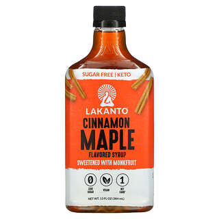 Lakanto, Cinnamon Maple Flavored Syrup, 13 oz (384 ml)