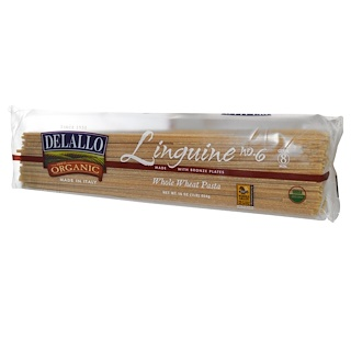 DeLallo, Linguine No. 6, 100% Organic Whole Wheat Pasta, 16 oz (454 g)