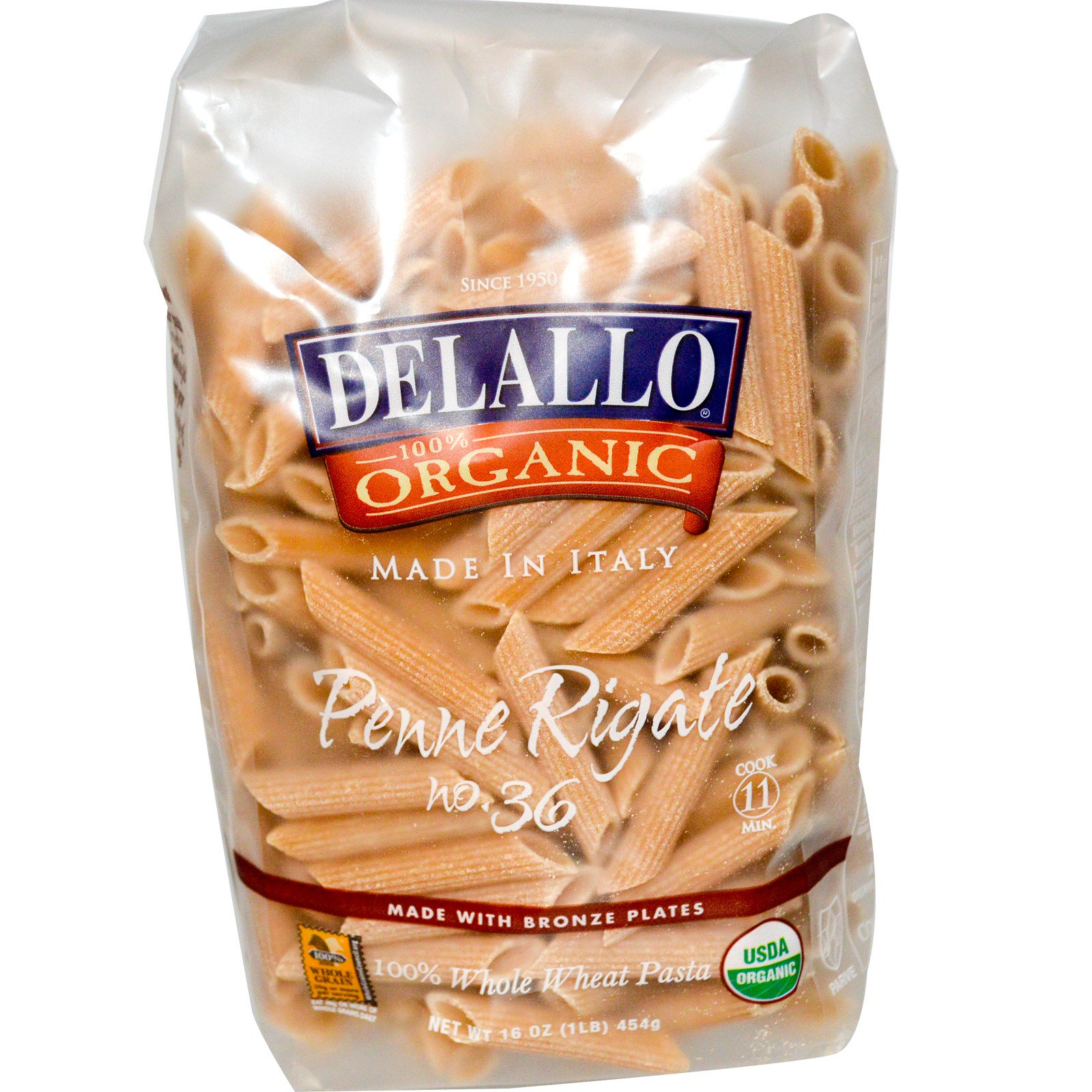 Organic wheat pasta