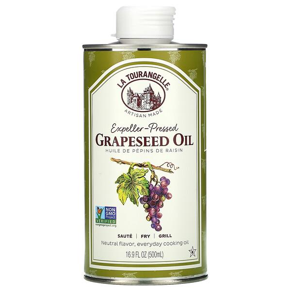 масло из виноградных косточек, отжатое шнековым прессом, 500мл (16,9 жидк. унции)