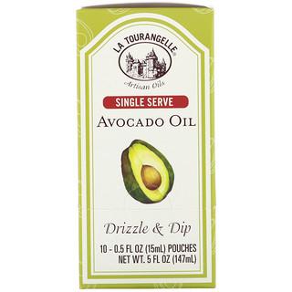 La Tourangelle, Drizzle & Dip, Avocado Oil, 10 Pouches, 0.5 fl oz (15 ml) Each