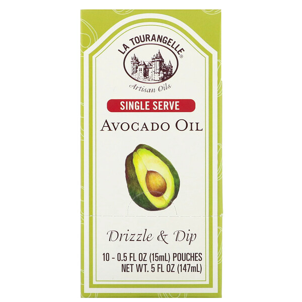 Drizzle & Dip, Avocado Oil, 10 Pouches, 0.5 fl oz (15 ml) Each