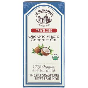 Ля Туранджель, 100% Organic and Unrefined, Organic Virgin Coconut Oil, Travel Size, 10 Pouches, 0.5 fl oz (15 ml) Each отзывы