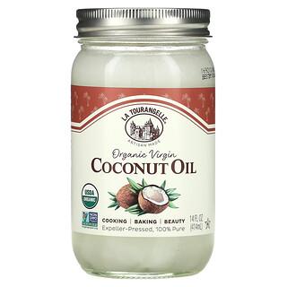 La Tourangelle, Нерафинированное органическое кокосовое масло первого отжима, 414мл