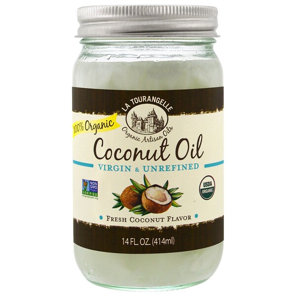 La Tourangelle, Virgin & Unrefined, Organic Coconut Oil, 14 fl oz (414 ml)
