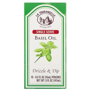 Ля Туранджель, Drizzle & Dip, Basil Oil, 10 Pouches, 0.5 fl oz (15 ml) Each отзывы