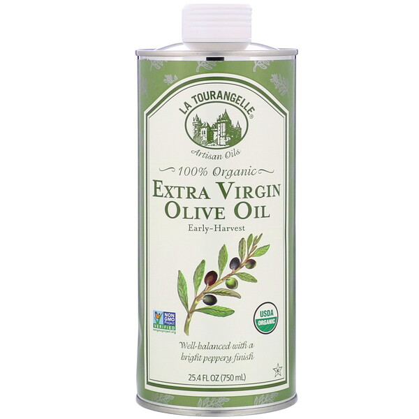 La Tourangelle, 100% Organic Extra Virgin Olive Oil, 25.4 fl oz (750 ml)