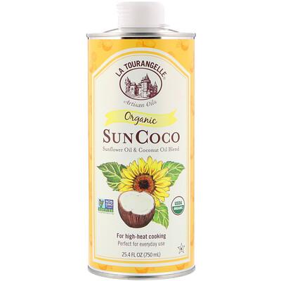 La Tourangelle SunCoco, органическая смесь подсолнечного и кокосового масел, 750мл