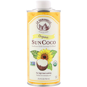 Ля Туранджель, Organic SunCoco, Sunflower Oil & Coconut Oil Blend, 25.4 fl oz (750 ml) отзывы покупателей