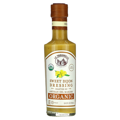 La Tourangelle Organic Sweet Dijon Dressing, 8.45 fl oz (250 ml)