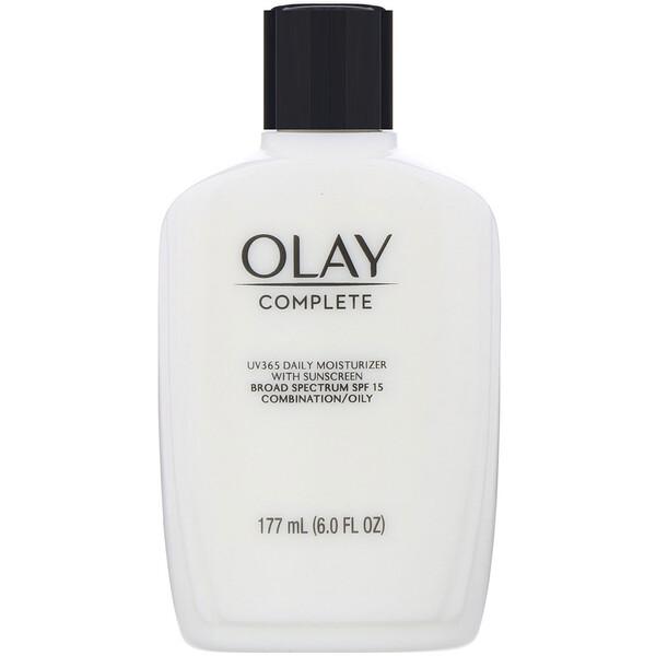 Complete, UV365 Daily Moisturizer with Sunscreen , SPF 15, Oily, 6 oz (177 ml)