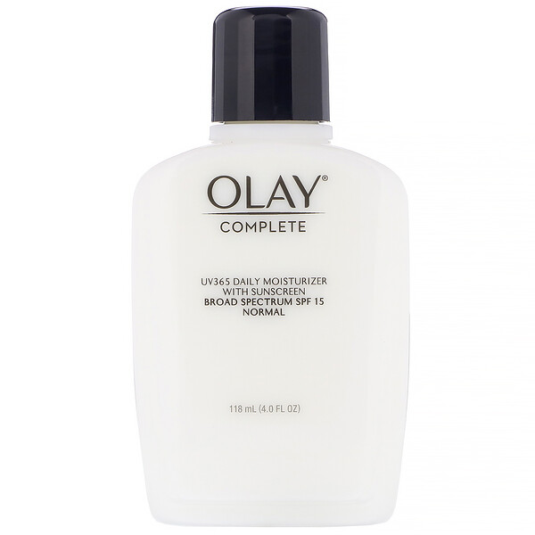 Olay, Complete, UV365 Daily Moisturizer, SPF 15, Normal, 4.0 fl  oz (118 ml) (Discontinued Item)