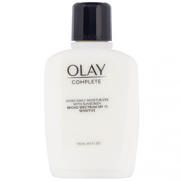 Complete, UV365 Daily Moisturizer, SPF 15, Sensitive, 4.0 fl oz (118 ml)
