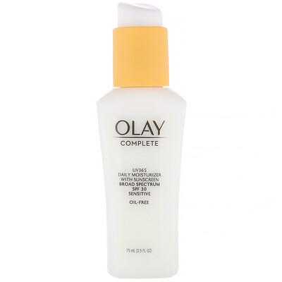 Купить Olay Complete, UV365, дневное увлажняющее средство, SPF30, для чувствительной кожи, 75мл (2, 5жидк. унции)