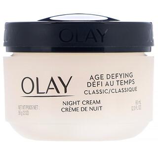 Olay, Age Defying, Classic, Night Cream, 2 fl oz (60 ml)