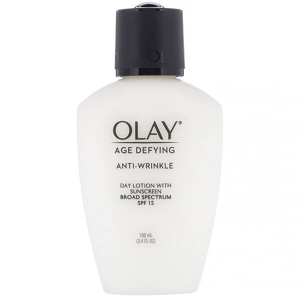 Olay, Age Defying, Anti-Wrinkle, Day Lotion with Sunscreen, SPF 15, 3.4 fl oz (100 ml) (Discontinued Item)